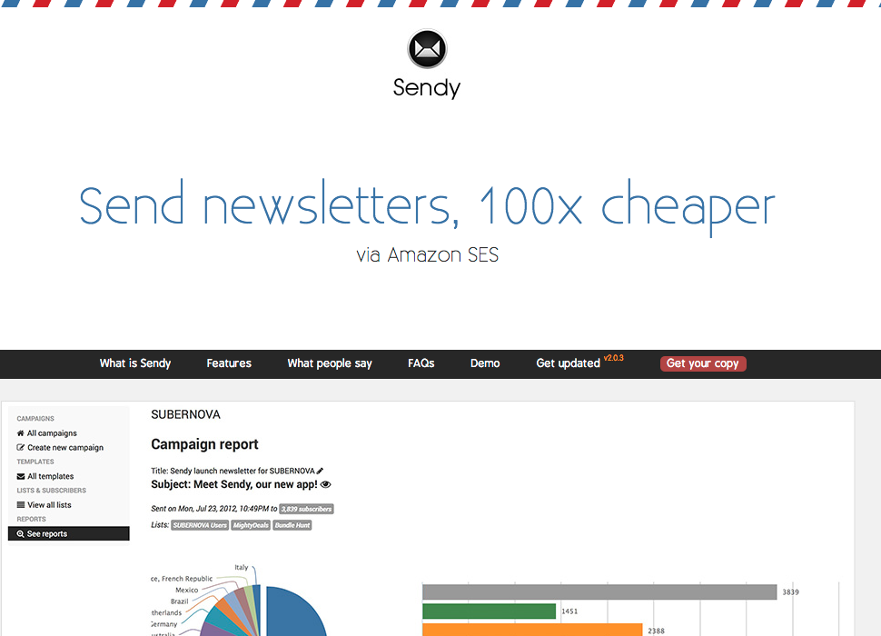Sendy: Self Hosted Email Newsletter App - AppVisionaire